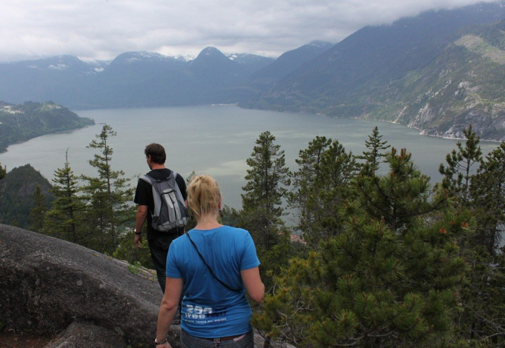 The view from the Upper Shannon Falls trail in Squamish
