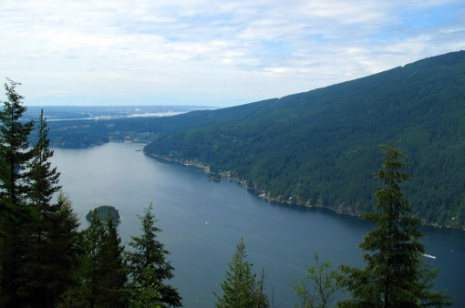 View of Indian Arm from the Diez Vistas trail