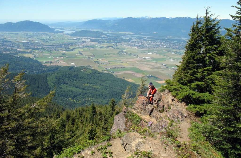 The view of the Fraser Valley from Elk Mountain