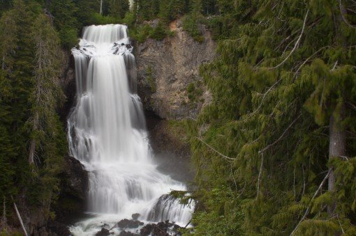 Alexander Falls in the Callaghan Valley near Whistler, BC