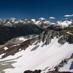 Snow in Whistler's Alpine in late-July