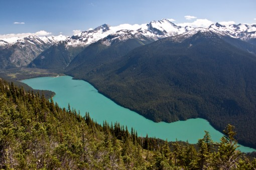 View of Cheakamus Lake from the High Note Trail