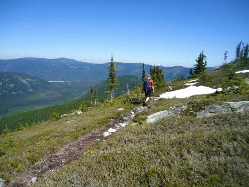 The trail to Zoa Peak near the first summit