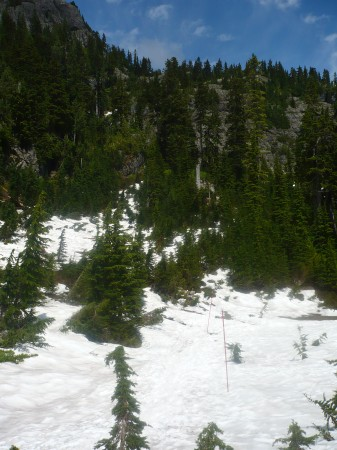 View from meadow; First Peak to the left