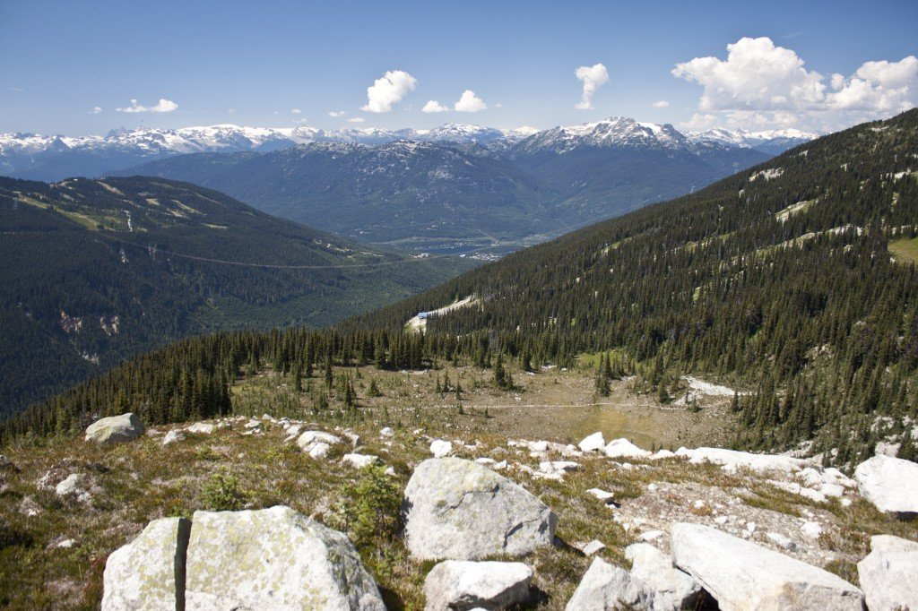 Blackcomb VIew Into Fitzsimmons Valley