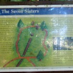 The map of the 7 Sisters Trail