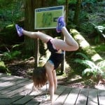 Gymnastics on the 7 Sisters Trail near Cultus Lake