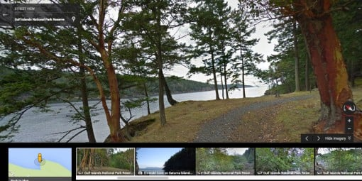 Google Street View of Gulf Island National Park