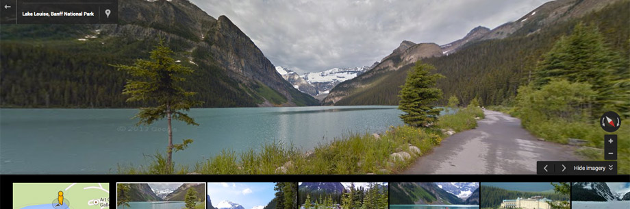 Google Street View of Lake Louise