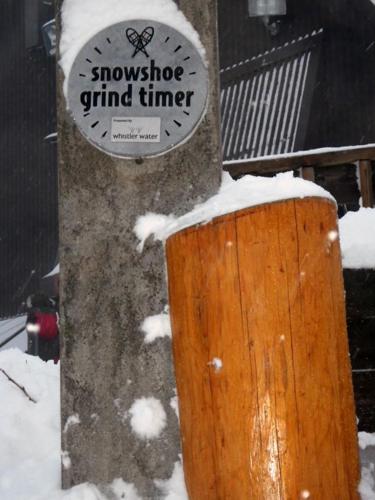 Snowshoe Grind Timer