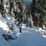 Enjoying the view along the snowshoe trail to Hollyburn Mountain