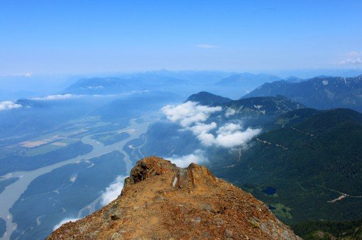 View from the top of Mount Cheam in Chilliwack