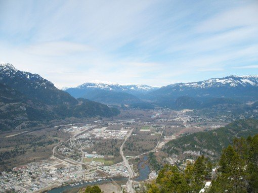 View of Squamish from the Chief