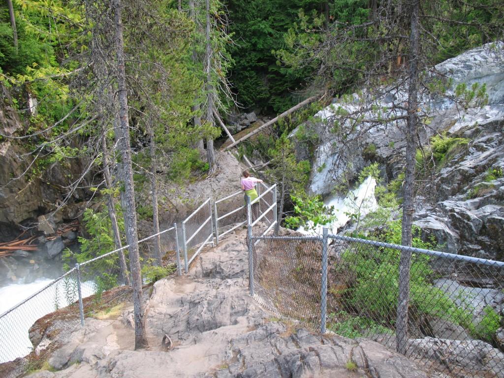 The viewpoint of Nairn Falls, south of Pemberton, BC
