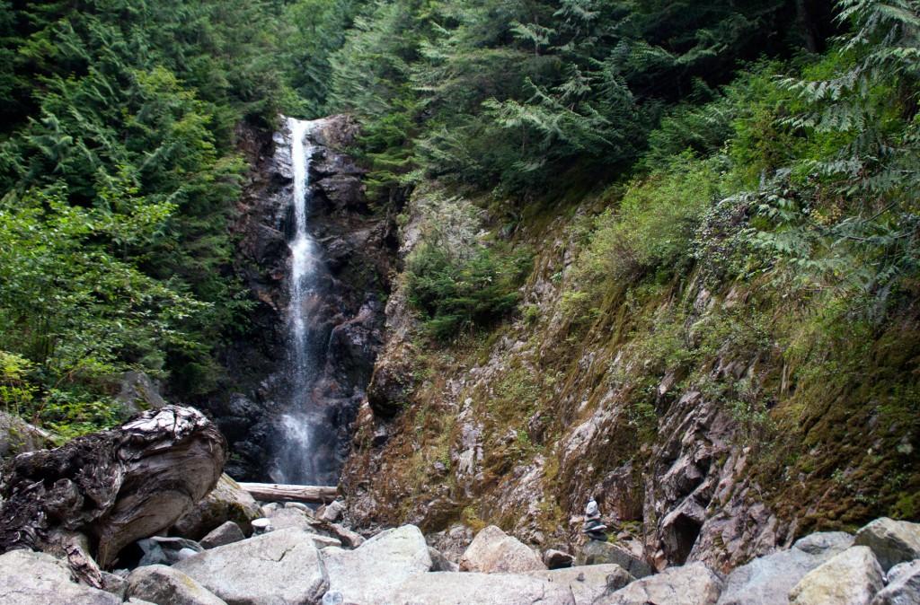 Norvan Falls in the summer