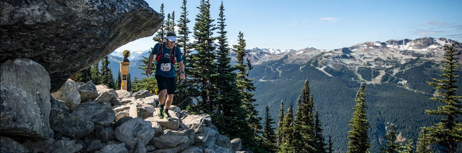 Running the Meet Your Maker 50miler in Whistler. Photo by Rob Shaer
