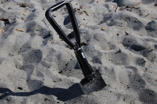 SOG Entrenching Tool in Sand