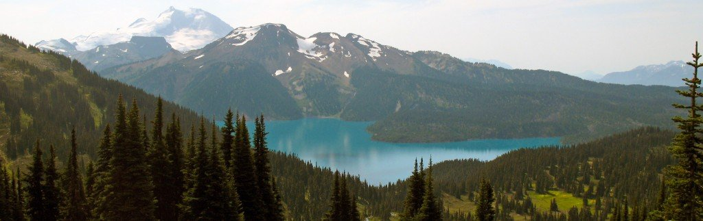 The view of Garibaldi Lake on the trail to Black Tusk