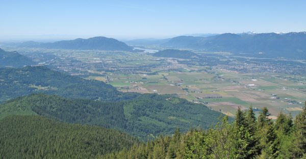 The view from Elk Mountain in Chilliwack