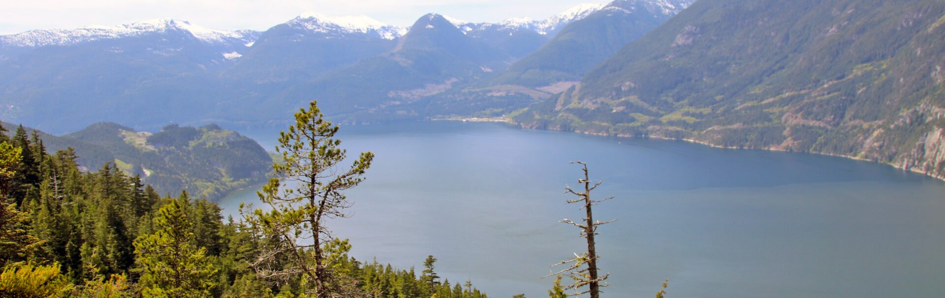 The view of Howe Sound from the Sea To Summit Trail