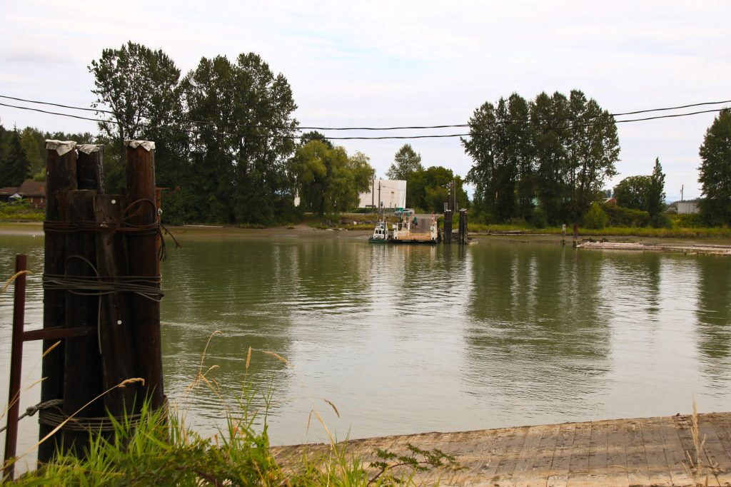 The ferry at Barnston Island