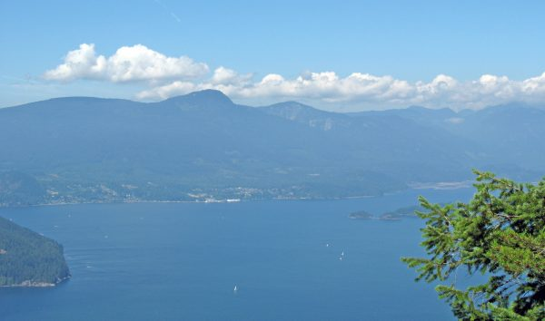 View of Howe Sound from Mount Gardner on Bowen Island