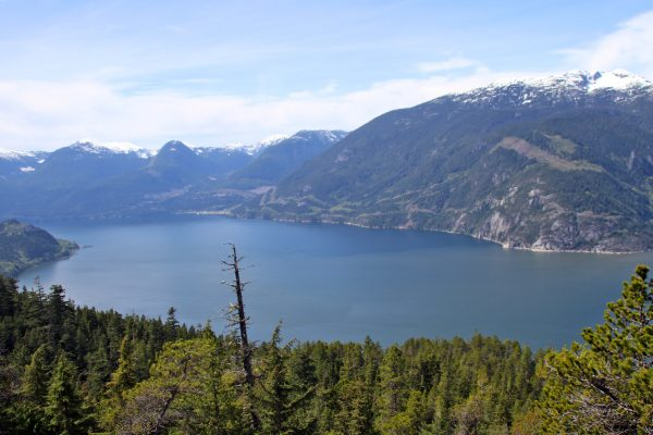 View of Howe Sound from the Sea To Summit Trail near the Gondola