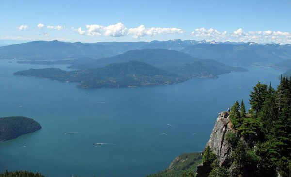 The view of Howe Sound from St Mark's Summit