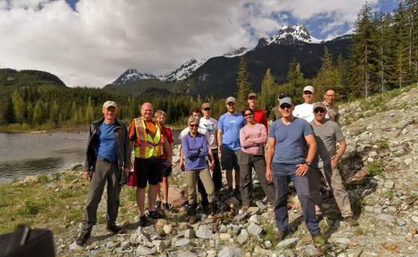 BCMC Trail Crew taken at New Watersprite Lake Trailhead (2017) (I'm wearing the yellow safety vest).
