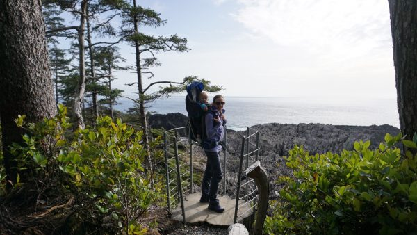 Hiking along the Wild Pacific Trail in Ucluelet.