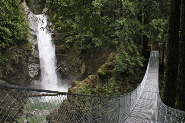Cascade Falls and Suspension Bridge