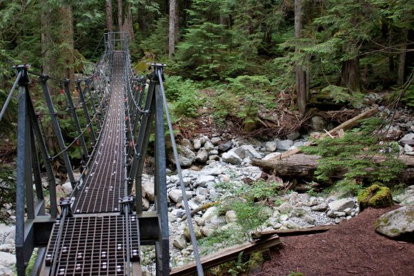 The Norvan Creek Suspension Bridge