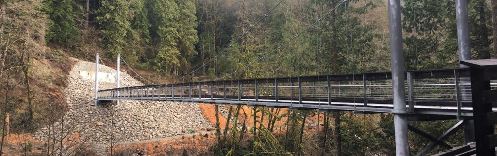 Seymour River Suspension Bridge