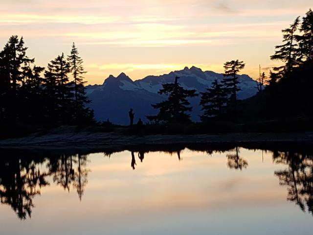 Sunset Reflection, Elfin Lakes