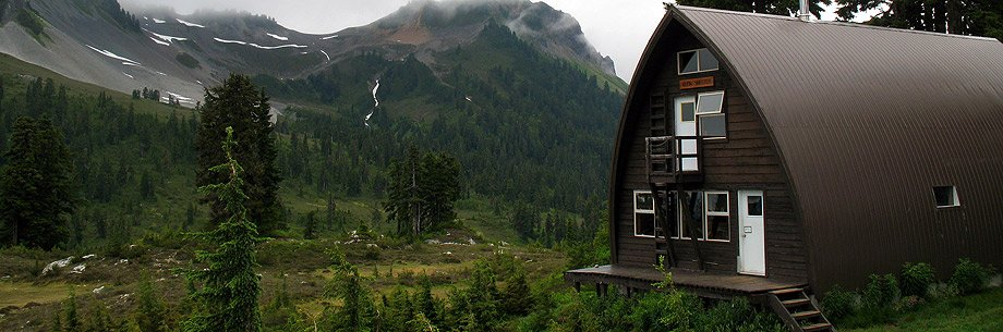 The cabin at Elfin Lakes