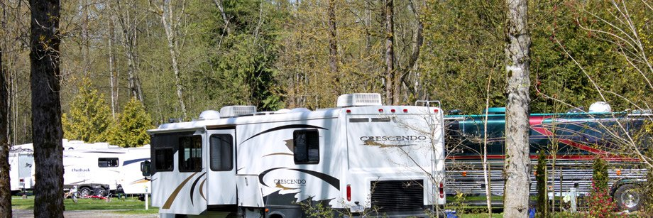 RVs at Fort Camping in Fort Langley