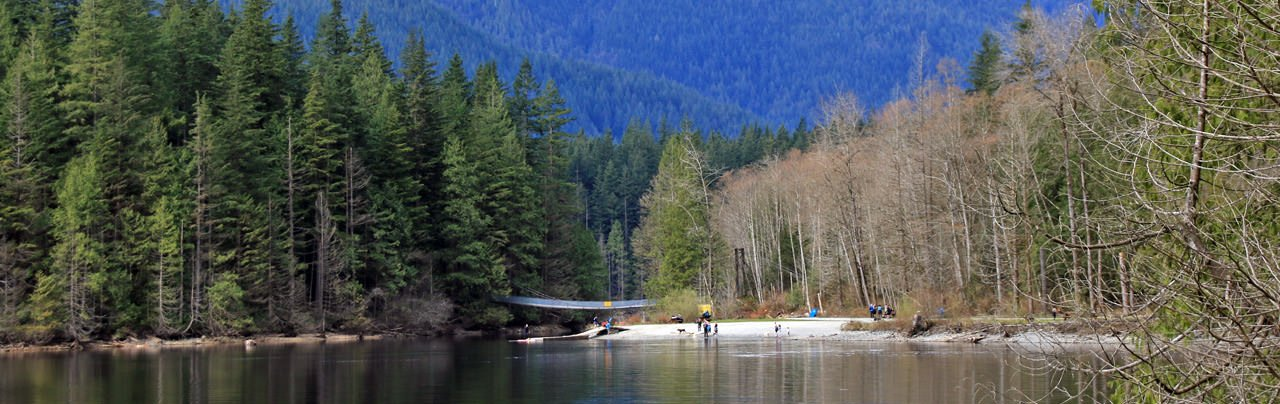 A view of the north beach at Buntzen Lake in Anmore