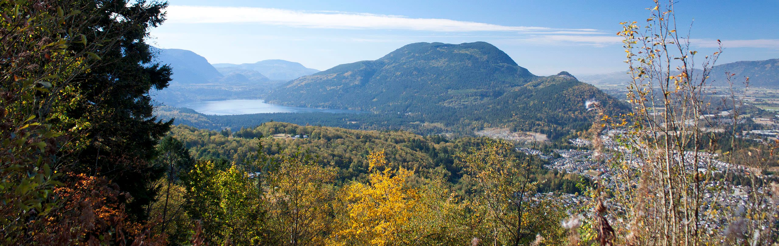 A view of Chilliwack and Cultus Lake from Mount Thom
