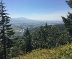 A view of the Fraser Valley from the top of the Abby Grind