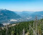 A view looking towards Squamish and north from a ridge along the Al's Habrich Ridge Trail