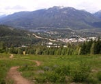 A view along the Ascent Trail looking down towards Whistler Village