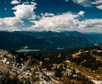 The view towards Whistler Village from Blackcomb Mountain