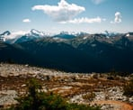 One of the many scenic alpine views along the trail through Blackcomb Meadows