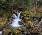 Lower Bosumarne Falls, a few kilometers from Chilliwack Lake