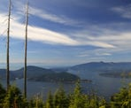 The view of Howe Sound looking towards Bowen Island from the Bowen Lookout at Cypress