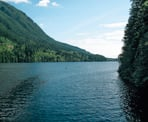 A view of the north end of Buntzen Lake near Port Moody, BC
