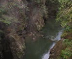 View of Capilano Canyon from the Pipe Bridge down stream from Cleveland Dam