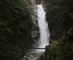 The scenic Cascade Falls is located northeast of Mission, BC