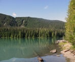 A view along the shore of Cheakamus Lake