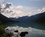 Cheakamus Lake in Garibaldi Provincial Park, near Whistler, BC